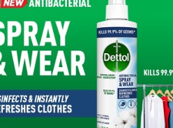 Win 1-year supply of Dettol Antibacterial Spray and Wear
