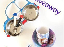 Win 1 of 2 Disney Character plate set