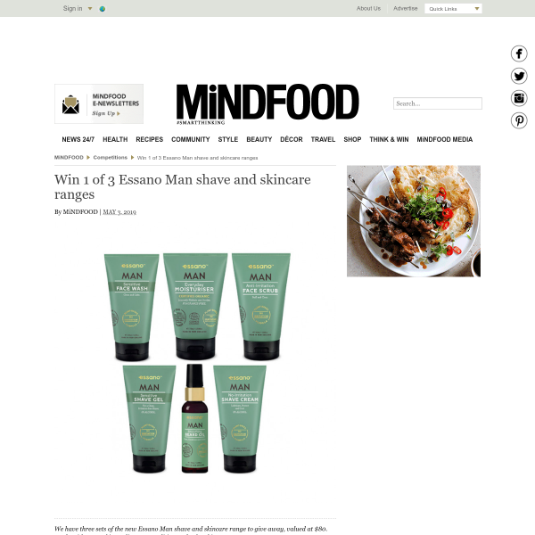 Win 1 of 3 Essano Man shave and skincare ranges