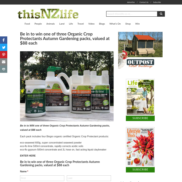 Win 1 of 3 Organic Crop Protectants Autumn Gardening Packs