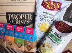 Win 1 of 3 prize packs from Proper Crisps