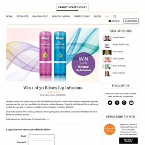 Win 1 of 30 Blistex Lip Infusions