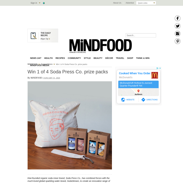 Win 1 of 4 Soda Press Co. Prize Packs