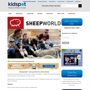 Win 1 of 5 annual passes to Sheepworld