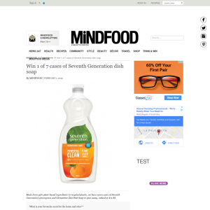 Win 1 of 7 cases of Seventh Generation dish soap