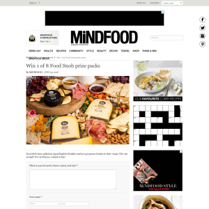 Win 1 of 8 Food Snob prize packs