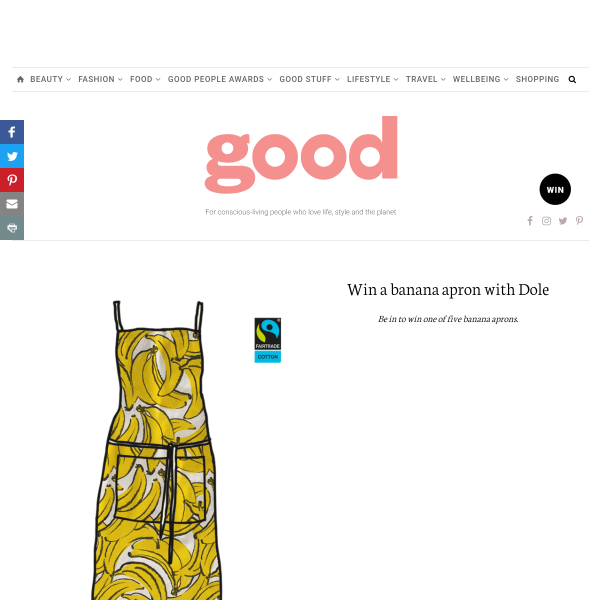 Win a banana apron with Dole