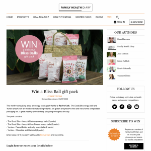 Win a Bliss Ball gift pack