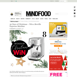 Win a Breville Expresso Machine