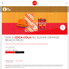Win a Coca-Cola No Sugar Orange Beach Pack