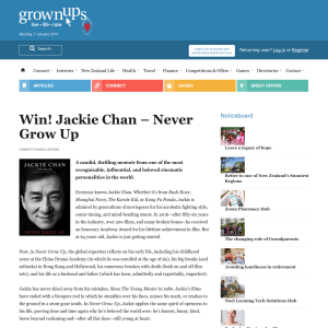 Win a copy of Jackie Chan – Never Grow Up