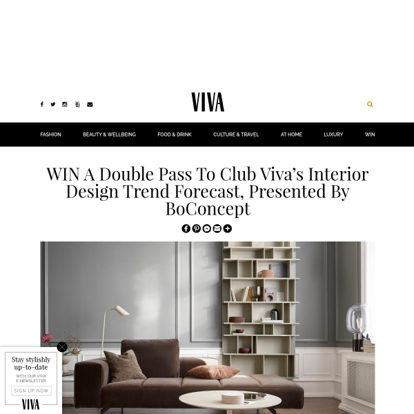 Win a Double Pass to Club Viva's Interior Design Trend Forecast, Presented by BoConcept