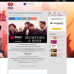 Win a double pass to Mumford & Sons