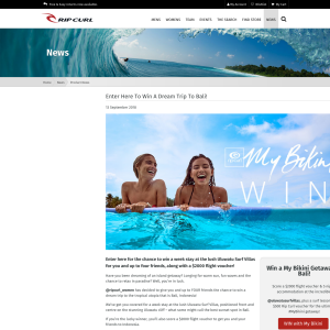 Win A Dream Trip To Bali