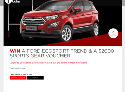 Win a Ford Ecosport Trend and a $2000 Sports Gear Voucher