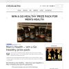 Win a Go Healthy prize pack for Men's Health