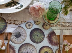 Win a matching set of coastal placemats, coasters and napkins by Wolfkamp and Stone