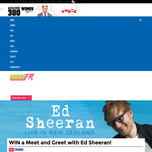 More fm nz win a meet and greet with ed sheeran competitions win a meet and greet with ed sheeran m4hsunfo