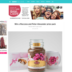 Win a Moccona and Peter Alexander prize pack