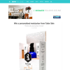 Win a personalised moisturiser from Tailor Skin