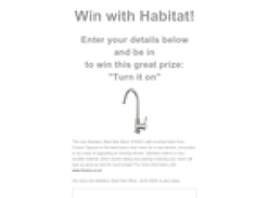 Win a Stainless Steel Sink Mixer