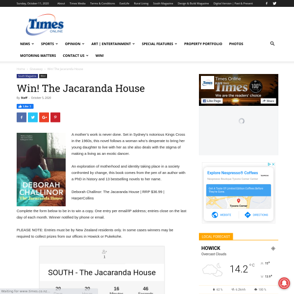 Win a The Jacaranda House