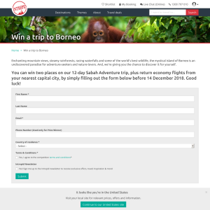 Win a trip to Borneo