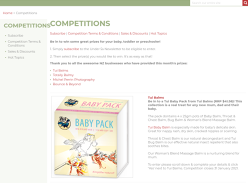 Win a Tui Baby Pack from Tui Balms