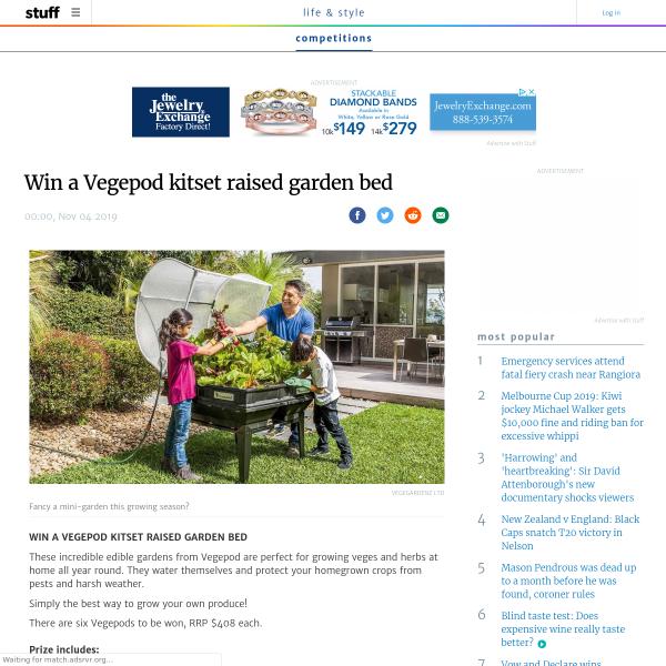 Stuff Nz Win A Vegepod Kitset Raised Garden Bed Competitions Co Nz