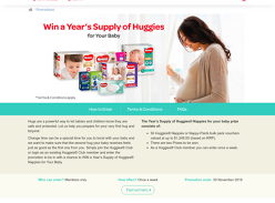 Win a Year's Supply of Huggies