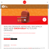 Win an Orange Herschel Backpack and New Coca-Cola No Sugar Orange