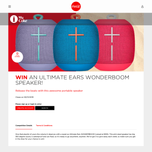 Win an ultimate ears Wonderboom Speaker