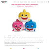 Win Baby Shark Family Sound Cube Plushie
