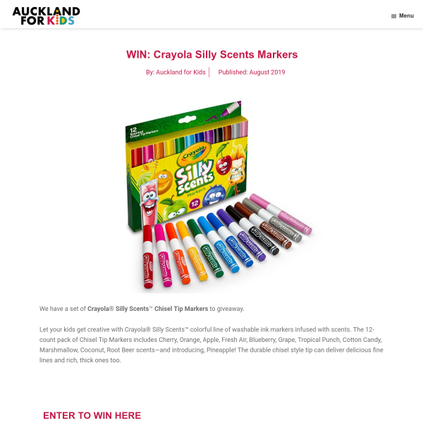 Win Crayola Silly Scents Markers