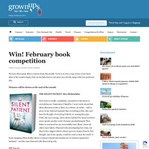 Win! February book competition