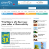 Win Grow 3X: Increase your Sales with Creativity