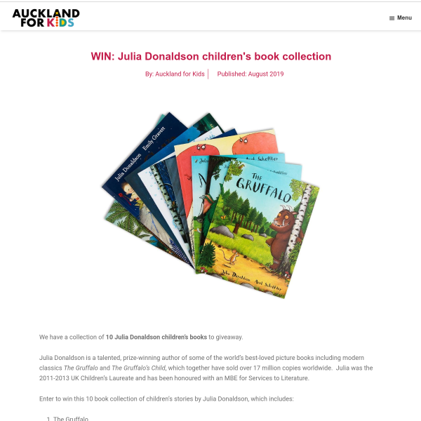 Win Julia Donaldson children's book collection