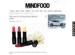 Win one of 2 Living Nature lipstick packs