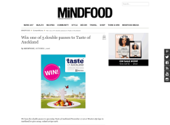 Win one of 5 double passes to Taste of Auckland