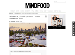 Win one of 5 double passes to Taste of Melbourne 2016