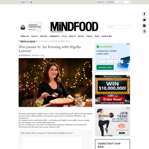 Win passes to 'An Evening with Nigella Lawson'