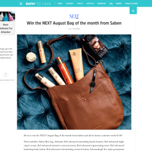 Win the NEXT August Bag of the month from Saben