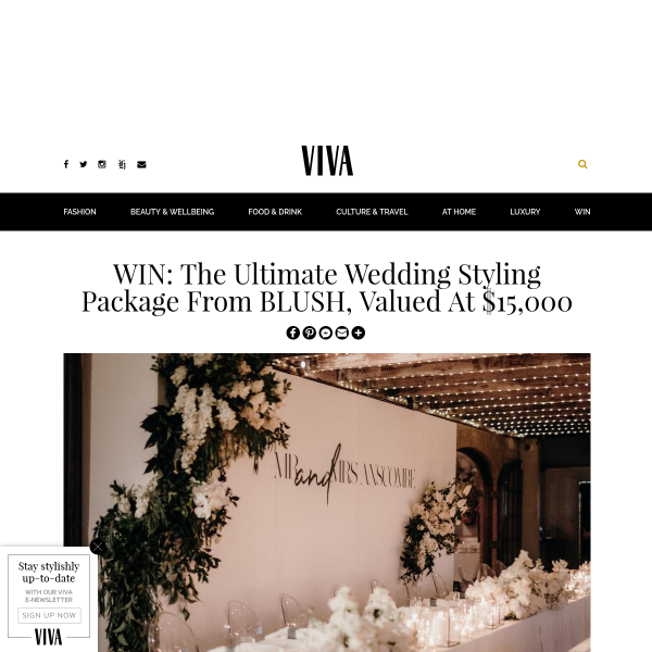 Win The Ultimate Wedding Styling Package from BLUSH