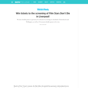 Win tickets to the screening of Film Stars Don't Die in Liverpool