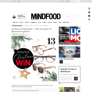 Win two pairs of Specsavers glasses