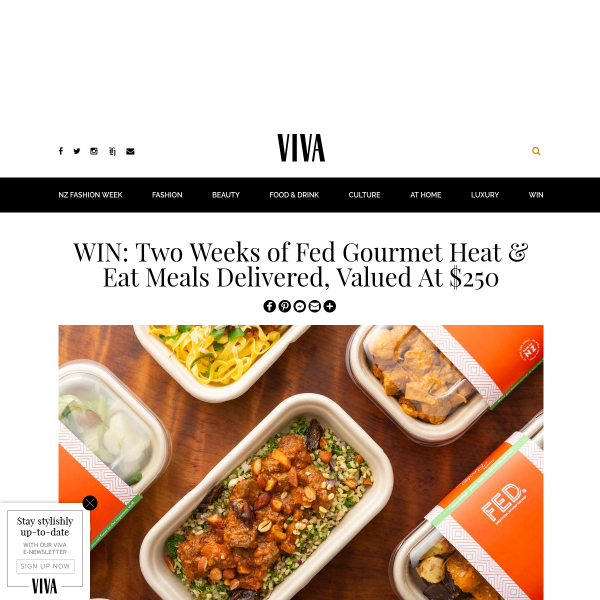 Win Two Weeks of Fed Gourmet Heat and Eat Meals Delivered