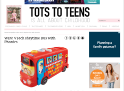 Win VTech Playtime Bus with Phonics