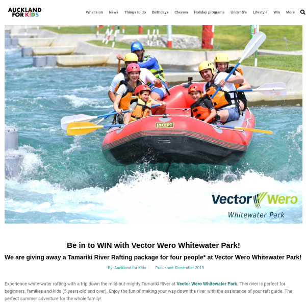 Win with Vector Wero Whitewater Park