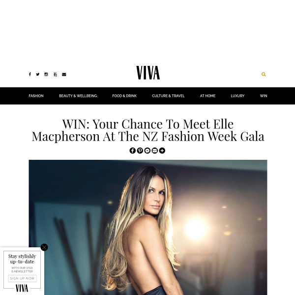 Win your chance to meet Elle Macpherson at The NZ Fashion Week Gala